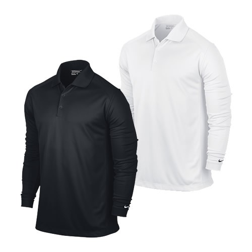 Men's Nike Victory Long Sleeve Polo – Black – Blessey Marine