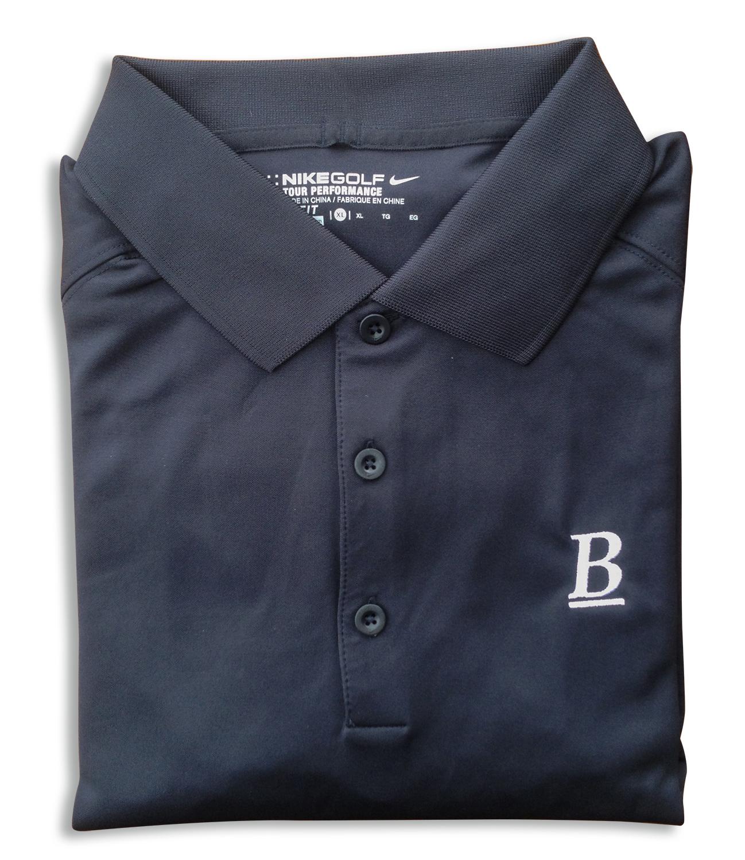 Mens Nike Victory Long Sleeve Polo Black Blessey Marine